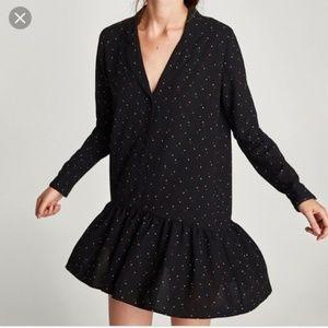 Zara Star Print Mini Dress